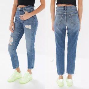 BDG Slim Straight Destroyed Mom Jeans